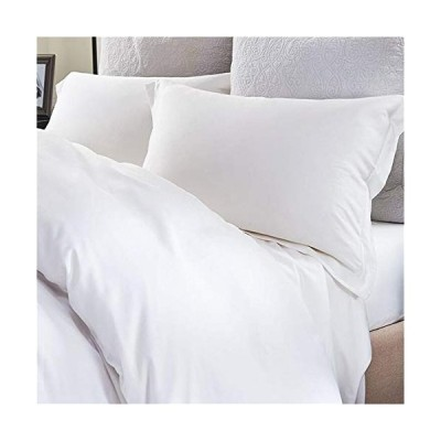 YIH Pillowcases Standard White, 100% Long Staple Egyptian Cotton 400 Thread Count Pillow Covers, Ultra Soft, Fade and Wrinkle Resistant, Luxury Hotel