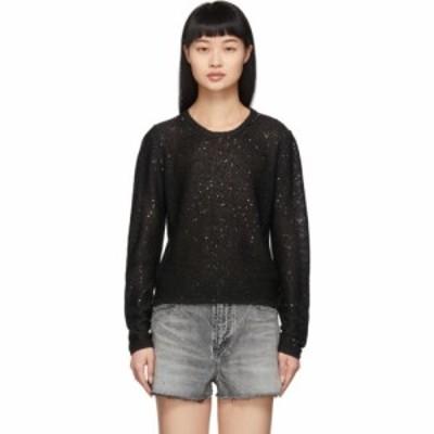 イヴ サンローラン Saint Laurent レディース ニット・セーター トップス Black Sequin Sweater Black
