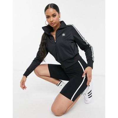 アディダス レディース ジャケット・ブルゾン アウター adidas Originals Firebird track top in black & white