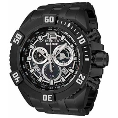 Invicta Mens Shaq Swiss Quartz Watch with Stainless Steel Strap Black 31 Model 33770