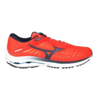 MIZUNO WAVE RIDER 24 男慢跑鞋-路跑 避震 美津濃 J1GC200330 橘紅黑