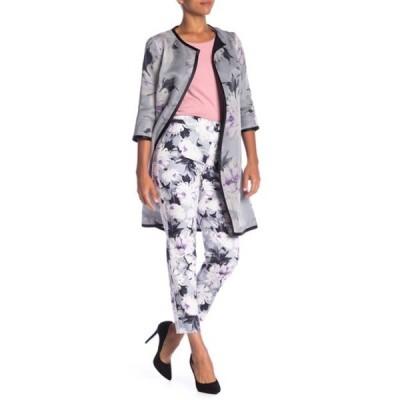 セント ジョン コレクション レディース カジュアルパンツ ボトムス Dahlia Print Stretch Trousers FLINT MELANGE MULTI