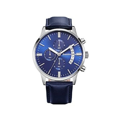 Fashion Business Men's Watch with Leather Band Men's Chronograph Unique Dat
