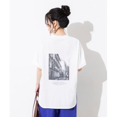 tシャツ Tシャツ 【WEB限定/別注】綿100%オーガニックコットン バックプリント オーバー半袖Tシャツ