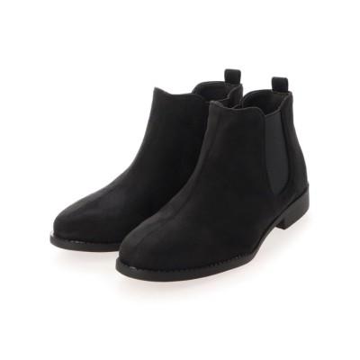 (SFW/サンエーフットウェア)AAA+ feminine 履き心地やわらか、美シルエットサイドゴアブーツ/3590/レディース ブラック スエード
