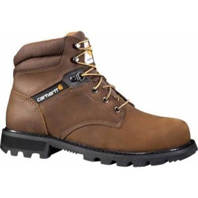 """カーハート メンズ ブーツ・レインブーツ シューズ Carhartt Men's 6"""" Welt Work Boots Brown"""
