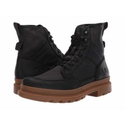 Frye フライ メンズ 男性用 シューズ 靴 ブーツ レースアップ 編み上げ Scout Boot Black Suede/Waxy Canvas【送料無料】