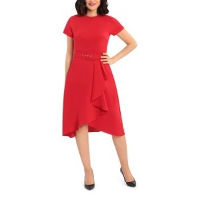 マギーロンドン レディース ワンピース トップス Cascade Fit & Flare Dress HAUTE RED