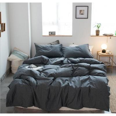 北欧調柄 掛け布団カバー 4点セット 敷き布団カバー 綿100% 植物柄|掛け布団カバー 1点|シーツ 1点|枕カバー 2点|a86