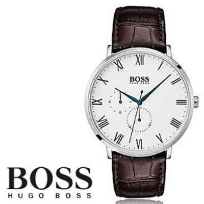 【Hugo Boss】ヒューゴボス William クォーツ ホワイト ブラウン メンズ 腕時計 1513617