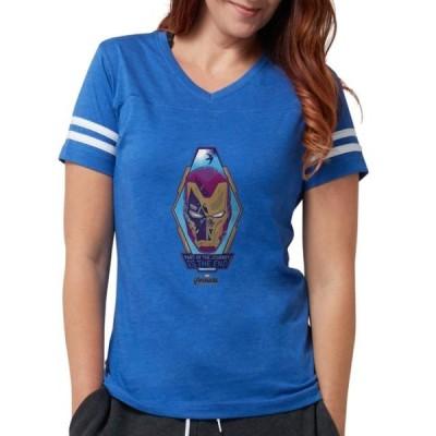 レディース 衣類 トップス CafePress - Iron Man Head - Womens Football Shirt Tシャツ