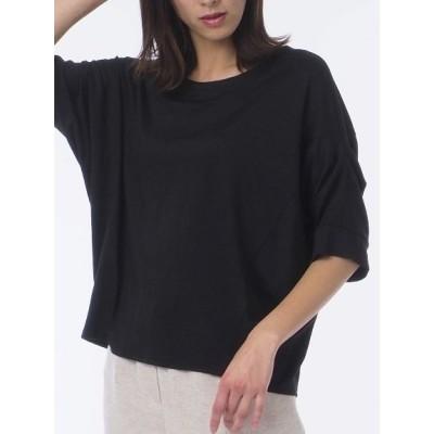 Liliane Burty[大きいサイズ] (リリアンビューティ) レディース Tシャツ ブラック L