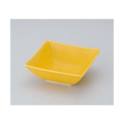 松花堂 和食器 / 黄釉京型角小鉢 寸法:11.2 x 11.2 x 4.3cm