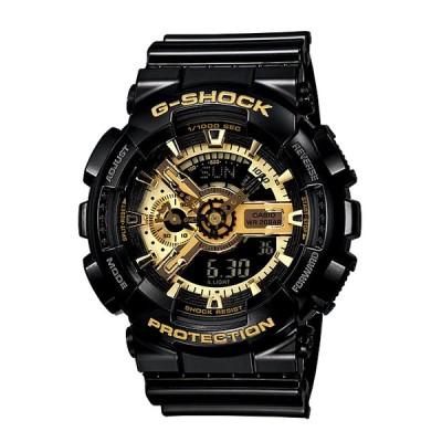 G-SHOCK Gショック GA-110 ブラック×ゴールド シリーズ カシオ CASIO アナデジ 腕時計 ブラック ゴールド ペアモデル GA-110GB-1A 逆輸入海外モデル