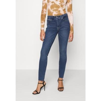 グッドアメリカン レディース ジーンズ LEGS RAW EDGE - Jeans Skinny Fit - blue