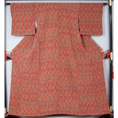 未使用品 小紋 ペイズリー模様 送料無料  リサイクル着物    アンティーク着物  きもの天陽