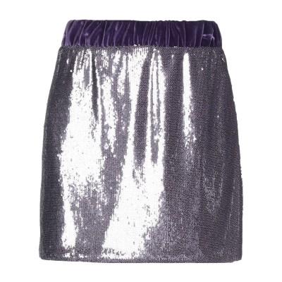 スーベニア SOUVENIR ミニスカート パープル M ポリエステル 100% ミニスカート