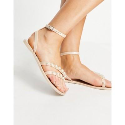 エイソス レディース サンダル シューズ ASOS DESIGN Firefly strappy jelly sandals with pearls
