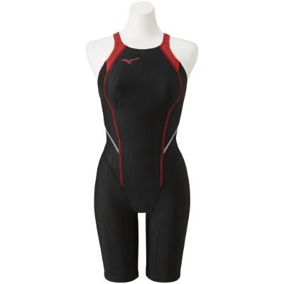 MIZUNOスイム・競泳水着 STREAM ACE 競泳用ハーフスーツ N2MG022096ブラック×レッド