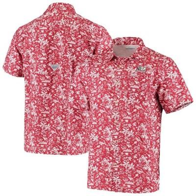 """メンズ カジュアルシャツ """"Alabama Crimson Tide"""" Columbia Super Slack Tide Button-Up Shirt - Crimson"""