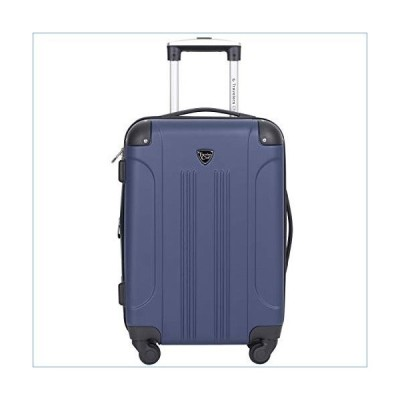 """Travelers Club 20"""" Chicago Expandable Spinner Carry-On Luggage, Cobalt Blue並行輸入品"""