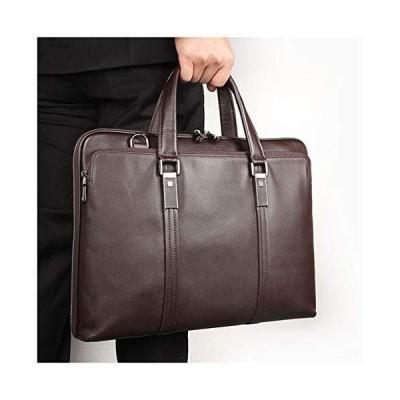GHJL Fashion Laptop Bag Business Briefcase Real Leather 15 Laptop Leather Bag Women and Men Shoulder Bag Messenger Classic Business Satchel