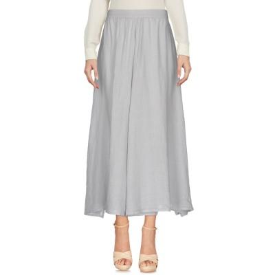 120% ロングスカート グレー 44 リネン 100% ロングスカート