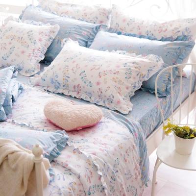 OLIVIA  VIVIEN 標準雙人床包被套四件組  荷葉枕  200織精梳純棉 台灣製