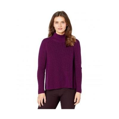 Eileen Fisher アイリーンフィッシャー レディース 女性用 ファッション セーター Petite Turtleneck Raglan Box-Top - Jam