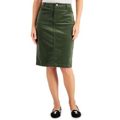 チャータークラブ レディース スカート ボトムス Corduroy Tummy-Control Skirt