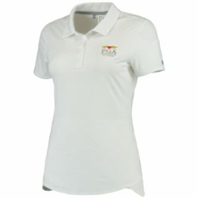 Under Armour アンダー アーマー スポーツ用品  Under Armour Womens White 2016 PGA Championship Leader Performance Polo