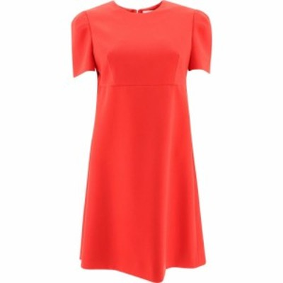 アレキサンダー マックイーン Alexander McQueen レディース ワンピース ワンピース・ドレス Short Sleeved Wool Dress Red