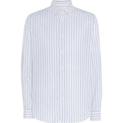 オット バイ ユークス 8 by YOOX メンズ シャツ トップス striped shirt Khaki