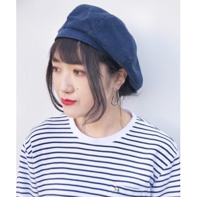 polcadot / コットン8パネル リブベレー帽 WOMEN 帽子 > ハンチング/ベレー帽