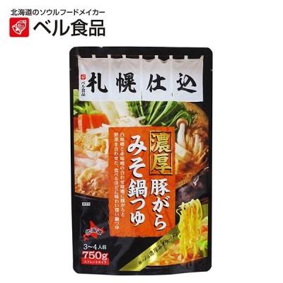 ベル食品 札幌仕込濃厚豚がらみそ鍋つゆ 750g