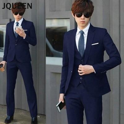 JQUEEN メンズスーツセット ジャケット+パンツ スーツ2点セット 大きいサイズ ビジネス フォーマル パーティー 結婚式 紳士服
