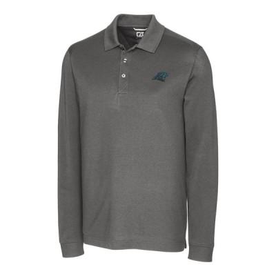 カロライナ・パンサーズ Cutter & Buck Advantage Long Sleeve ポロシャツ - Gray