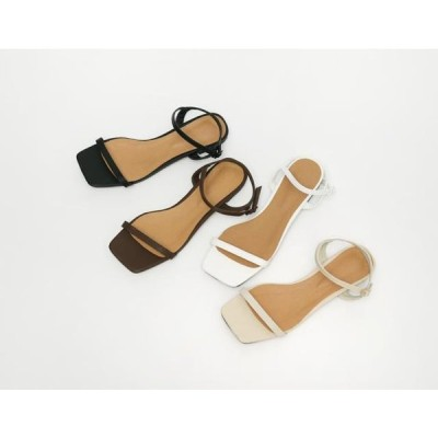 From Beginning レディース サンダル Stamp double strap sandal_N