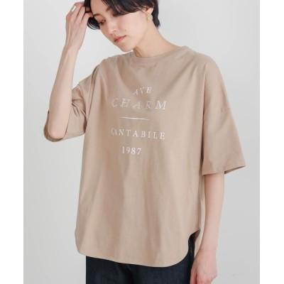 Bou Jeloud / 【コットン100】ロゴオーバーTシャツ WOMEN トップス > Tシャツ/カットソー