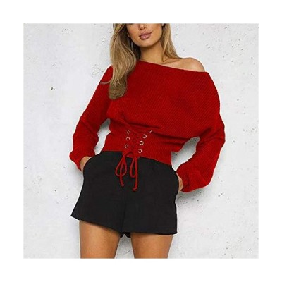 WAYATI Women Sweater Sleeve Long Neck Pullover Fall Sweaters One-Neck Sexy