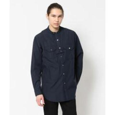 B'2nd(ビーセカンド)Engineered Garments(エンジニアドガーメンツ)Banded collar shirt 2ply broadcloth【お取り寄せ商品】