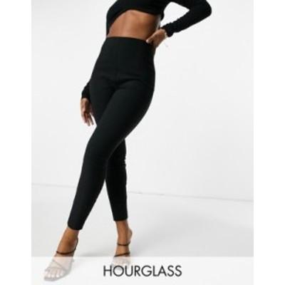 エイソス レディース カジュアルパンツ ボトムス ASOS DESIGN Hourglass high waist pants in skinny fit in black Black