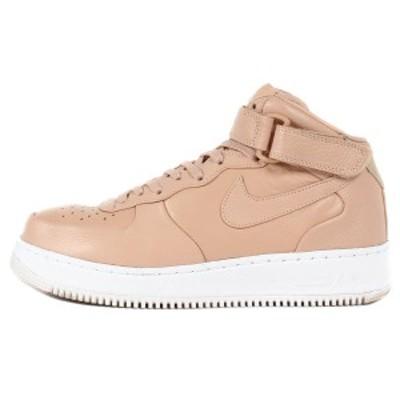 NIKE ナイキ NikeLab AIR FORCE 1 MID VACHETTA TAN 819677-200 バケッタタン×ホワイト US9.5 27.5cm 【メンズ】【中古】【K2817】