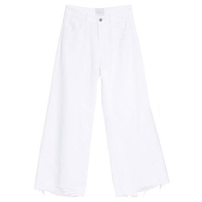 LOUXURY ジーンズ  レディースファッション  ボトムス  ジーンズ、デニム ホワイト