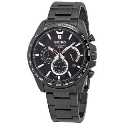腕時計 セイコー メンズ Seiko Chronograph Quartz Black Dial Men's Watch SSB311P1