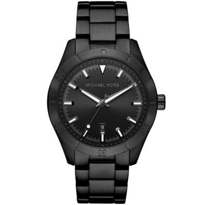 マイケルコース 腕時計 アクセサリー レディース Layton Three - Hand Black IP Watch Black