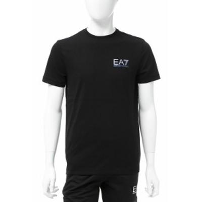 エンポリオアルマーニ Emporio Armani EA7 Tシャツ カットソー ブラック メンズ (3GPT49 PJJ6Z) 送料無料