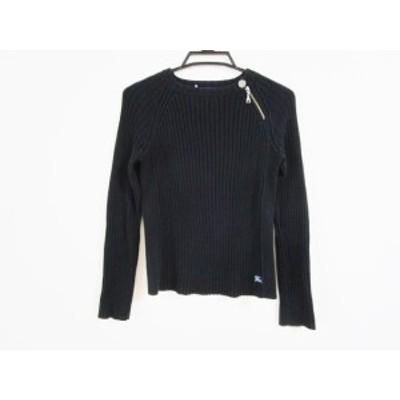 バーバリーブルーレーベル Burberry Blue Label 長袖セーター サイズ38 M レディース - 黒 クルーネック【中古】20210213