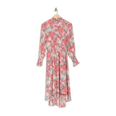 ナネットレポー レディース ワンピース トップス Long Sleeve High/Low Midi Dress PEACH MINT 241-5