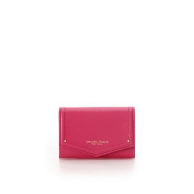 サマンサタバサプチチョイス Samantha Thavasa Petit Choice シンプルステッチ カードケース (フューシャピンク)